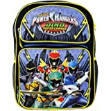"Saban Power Rangers Dino Supercharge 16"" Black Backpack for Boys"
