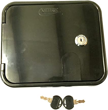 RV Valterra White Electric Power Cord Cable Hatch Compartment Lock Keys