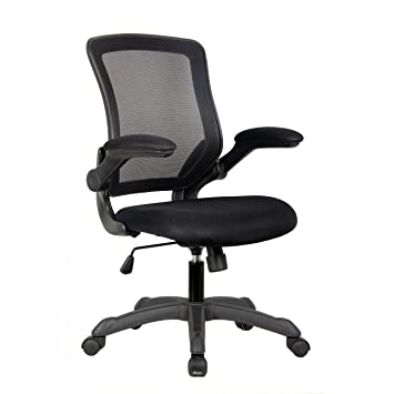 Superb Amazon.com: Mesh Task Office Chair With Flip Up Arms. Color: Black: Kitchen  U0026 Dining