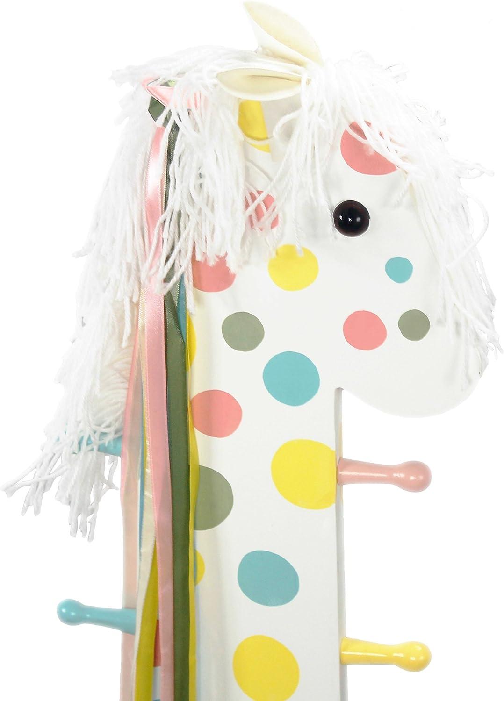 Teamson Kids Pony Sgabello con Schienale Multicolore Appendiabiti