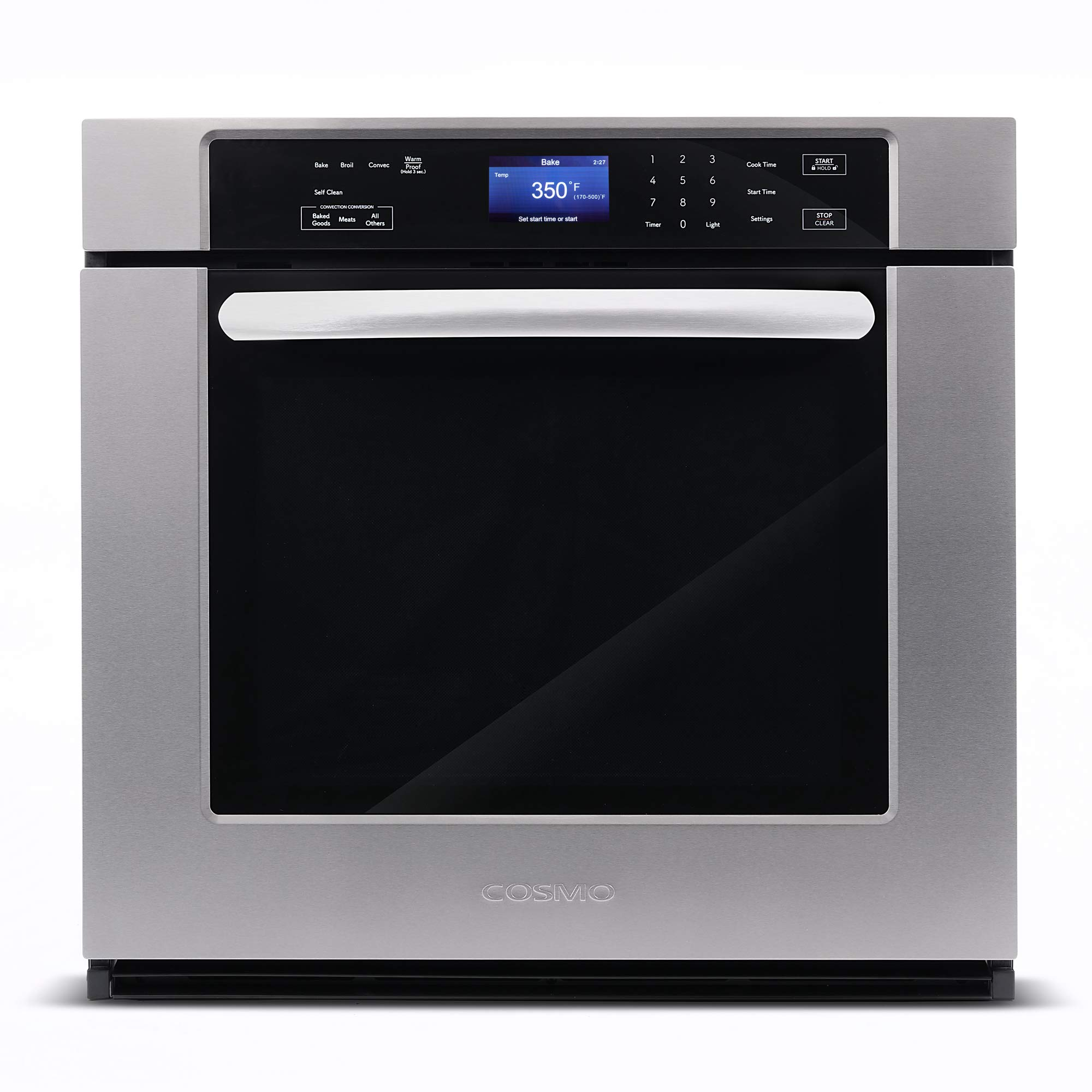 Cosmo COS-30ESWC 30 in. 5 cu. ft. Single Electric Wall Oven with True European Convection and Self Cleaning by Cosmo