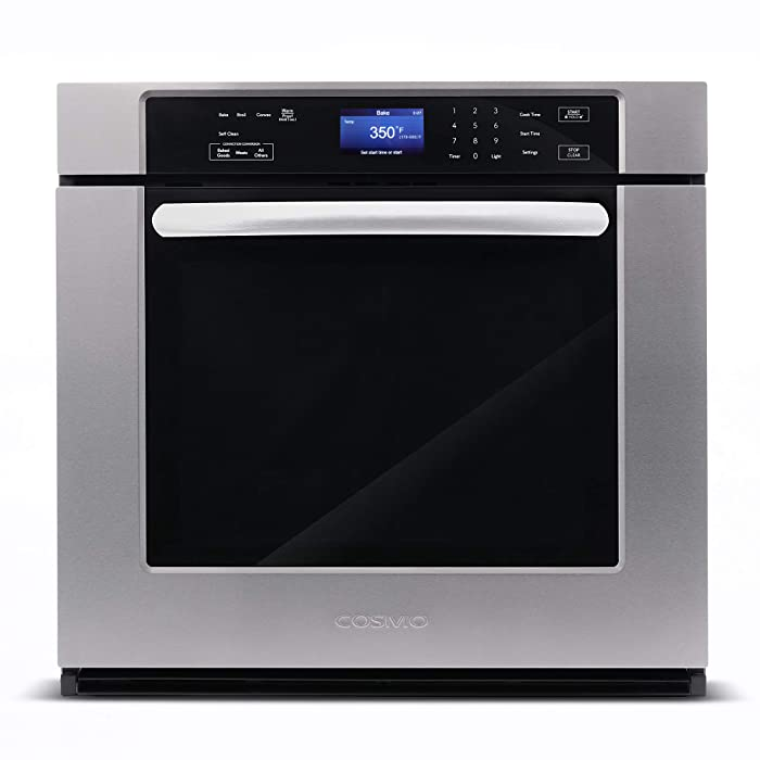 Cosmo COS-30ESWC 30 in. 5 cu. ft. Single Electric Wall Oven with True European Convection and Self Cleaning