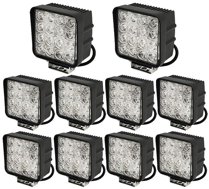 1 opinioni per Leetop 10 X Faro 48w Quadrato Faretto LED da Lavoro 16 LED di Profondità Auto