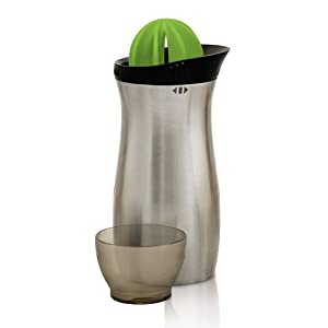 Tovolo Stainless Steel Cocktail Shaker Bar Tool with Built in Citrus Reamer & Strainer