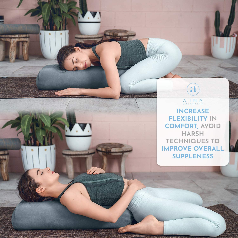 Amazon.com: Ajna - Almohada de yoga para meditación y apoyo ...