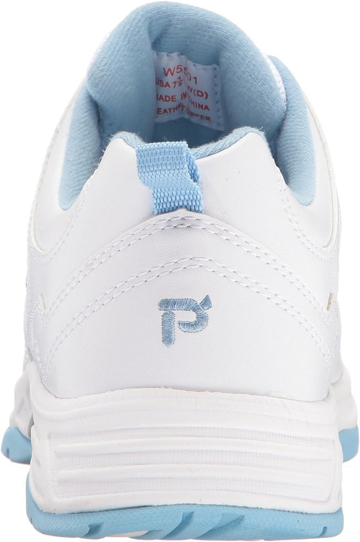 Propet Women's Eden Walking Shoe White/Powder Blue