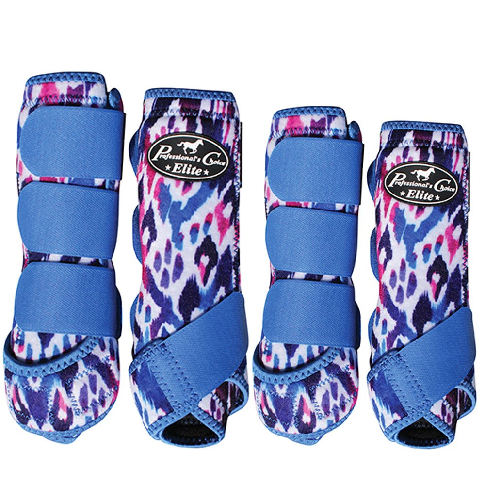 (MD, Waterfall) - Professionals Choice Equine Sports Medicine Ventech Elite Leg Boot Value Pack, Set of 4 B076BW74P6