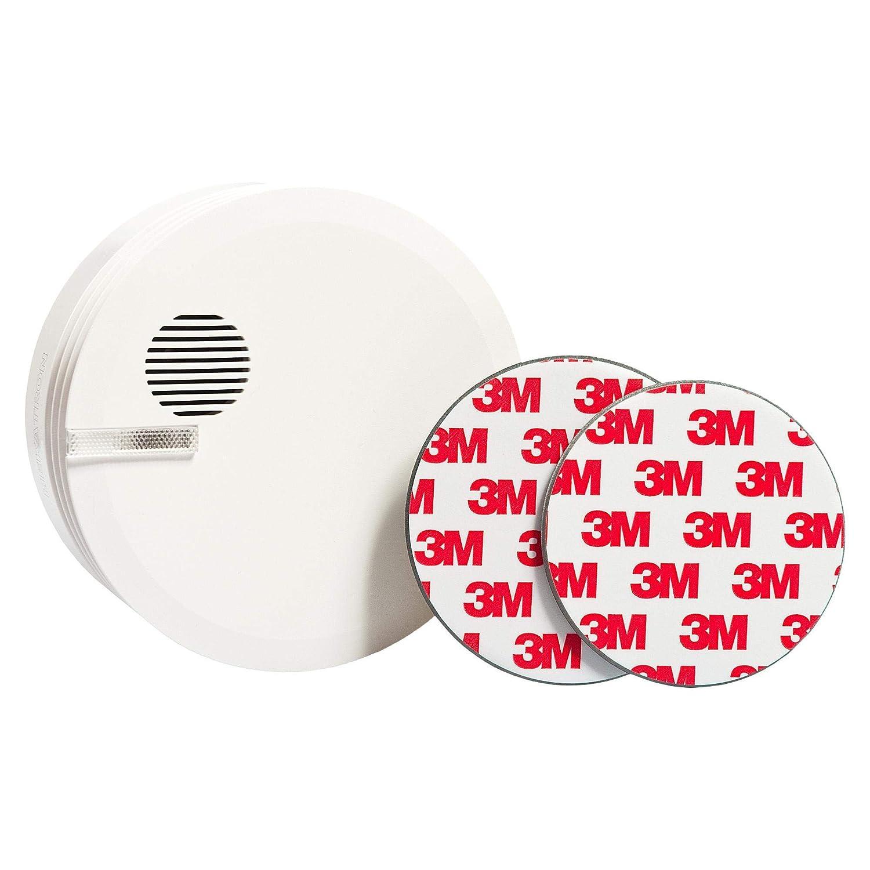 20 Supports magn/étiques Autocollants /Ø 70mm ECENCE Plaque aimant/ée adh/ésive pour d/étecteur de fum/ée Mise en Place sans per/çage ni vis pour Tous Les d/étecteurs de fum/ée et alarmes Incendie