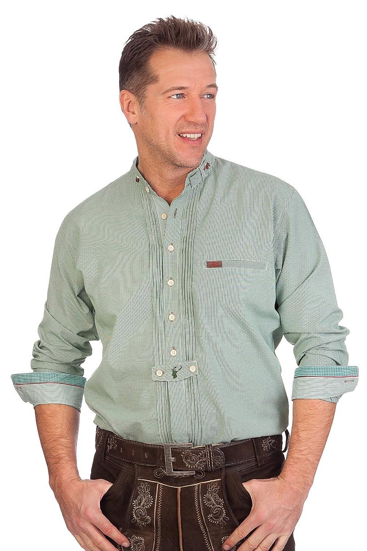 H1605 - Trachtenhemd mit langem Arm - BRUNO - grün