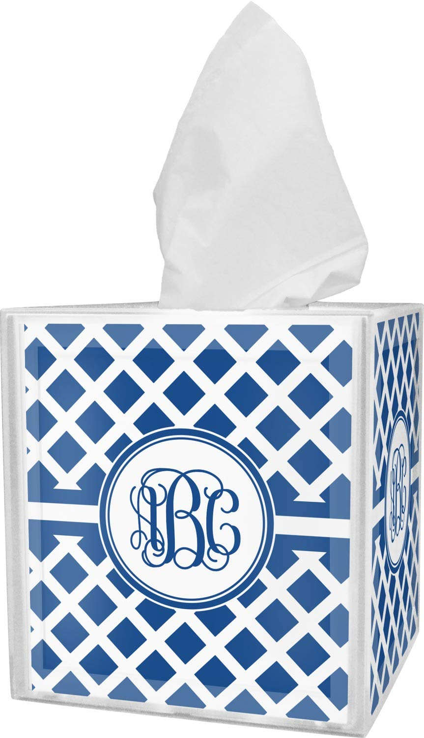 RNK Shops Diamond Tissue Box Cover (Personalized)