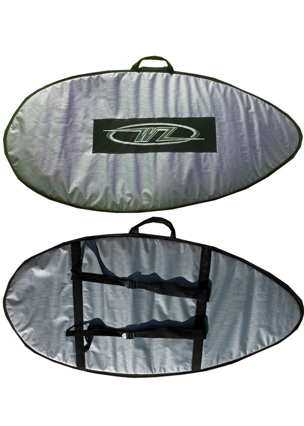 Wave Zone Skimboards Backpack Style Bag 46 or 53 Padded Travel or Day Use Silver