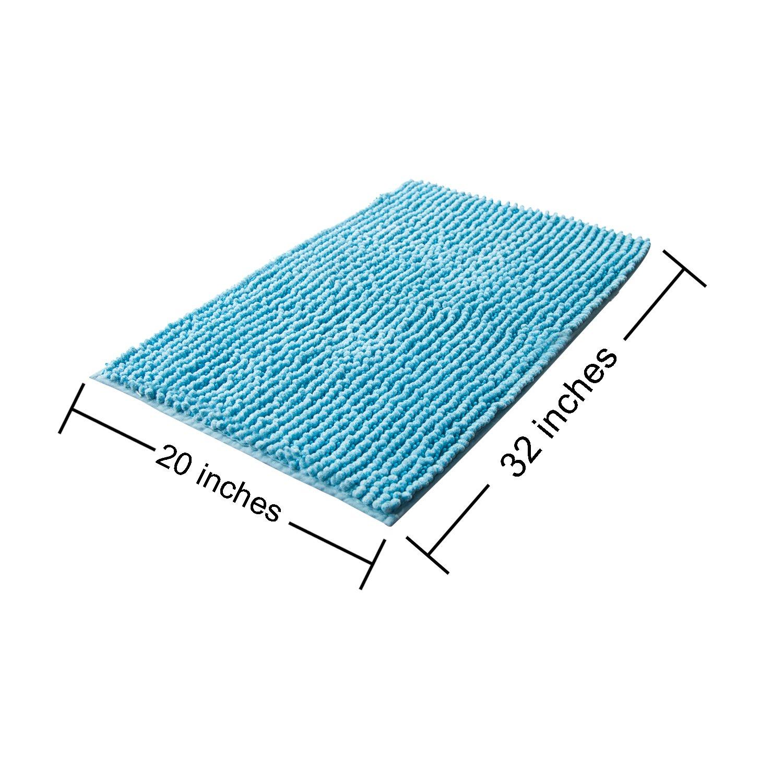 Vdomus Soft Microfiber Shag Bath Rug Extra Absorbent And