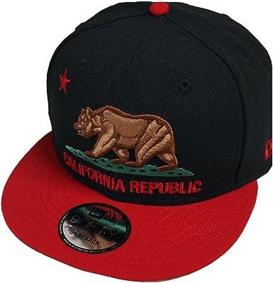 New Era California Bear Black Scarlet Snapback Cap 9fifty 950 Limited Edition