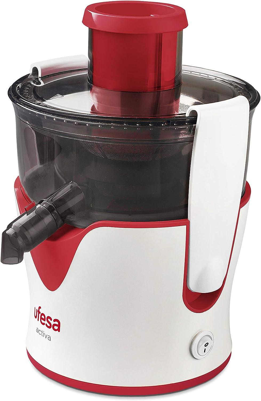 Ufesa LC5050 Activa - Licuadora, 350W, Función ON/OFF, Sistema bloqueo, Entrada alimentos grande 65mm, Malla triturador de inox