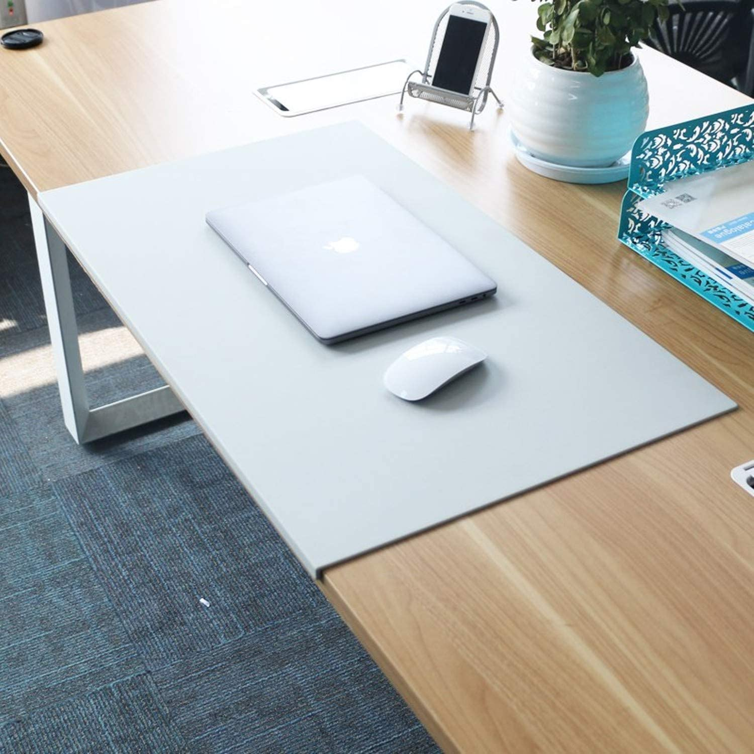 Office appliances TPU Material Plastic tablecloths Desk mats Business Table Carpet Computer mat odorless Brown Desk mat Mouse pad