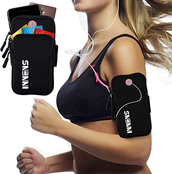 Gym Universal Sports Armband for iPhone X 8 7 6 6S Plus Fitness Gear /& Accessories for Women /& Men Fluorescent Green Samsung Galaxy S10//S9//S8//S7//Plus- Running Workout Outdoor Arm Bag