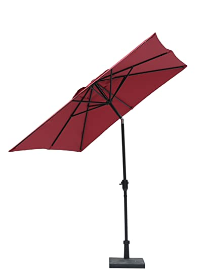 Jardin Du Sudu201d 9u0027 X 7u0027 Rectangular Patio Umbrella Market Umbrella With Push