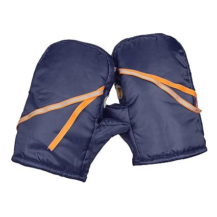Wooya Impermeable Moto Vespa Manillar Invierno Guantes Caliente Orejeras Protección Térmica Negro-Cyan