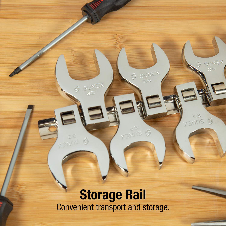 with plastic tray Hurricane 1//2-Inch Drive SAE Jumbo Crowfoot Wrench Set 2-Inch Chrome Vanadium,14-Piece 1-1//16-Inch