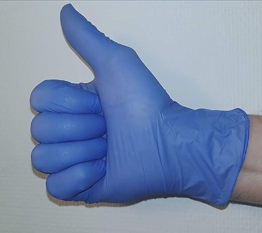 tama/ño grande/ /Pack de 100 Azul sin polvo de nitrilo guantes de l/átex desechables