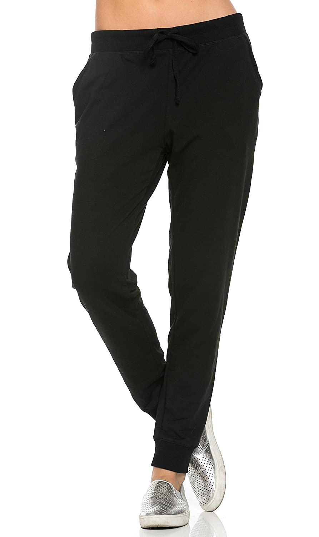 SOHO GLAM Classic Drawstring Jogger Pants in Black (Plus Sohogirl.com BJOGGERBLACK