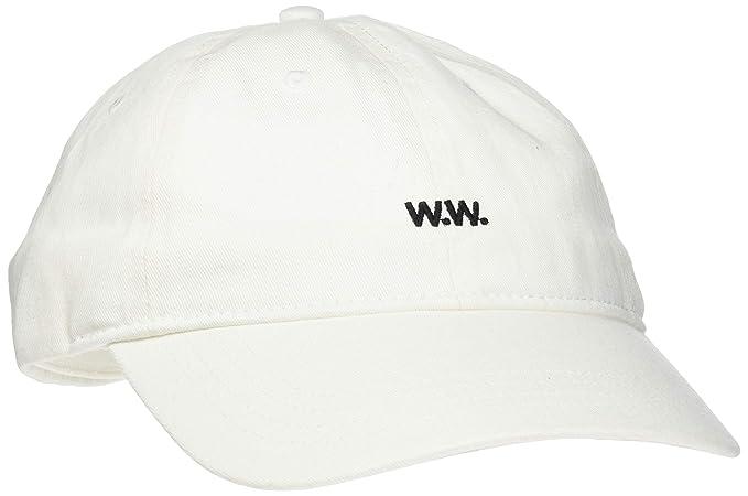 961cdc3413f2db Wood Wood Men's Low Profile Cap Baseball, Elfenbein White, One Size ...