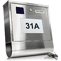 TÄGA 2210 S Zonne brievenbus met verlicht huisnummer I Automatische nachtverlichting door helderheidssensor en batterij…