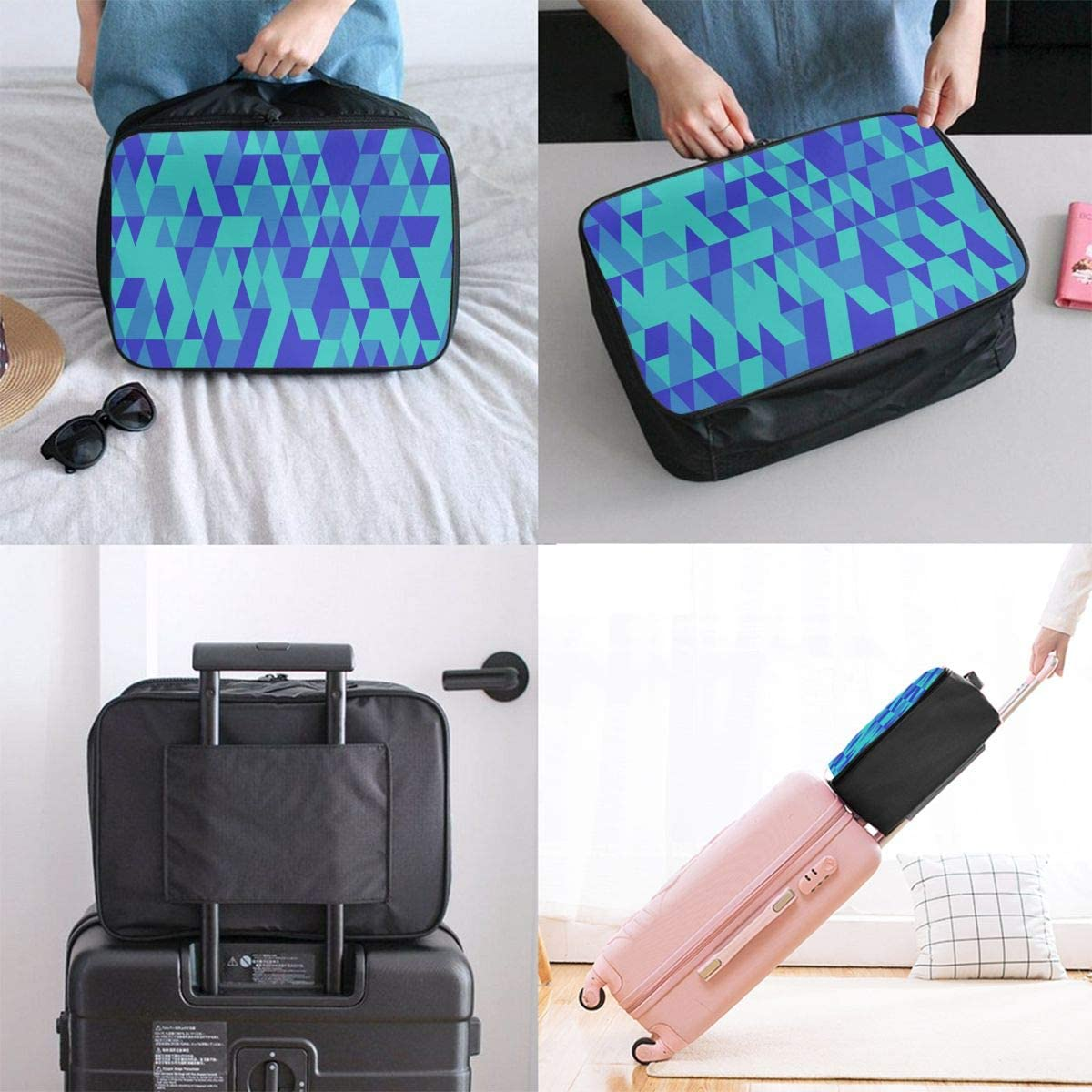 Culora Color Kaleidoscope Lightweight Large Capacity Portable Luggage Bag