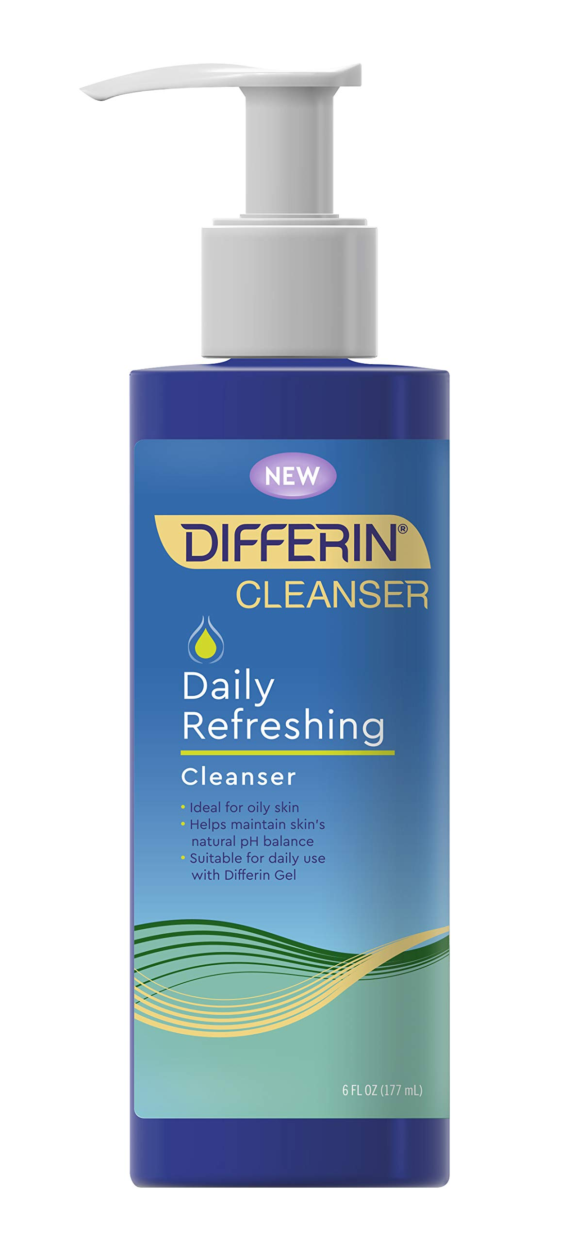 Facial Cleanser by the makers of Differin Gel, Daily Refreshing Face Wash, Gentle Skin Care for Acne Prone Sensitive Skin, 6 oz