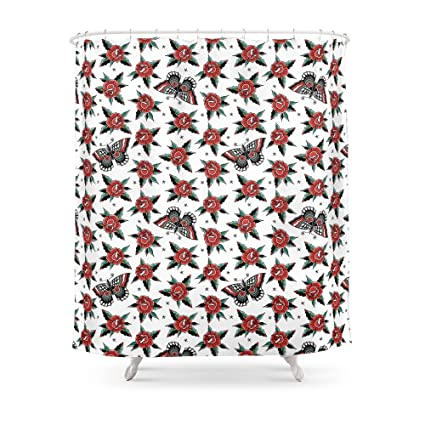 Society6 Butterfly Classic Tattoo Flash Shower Curtain 71quot