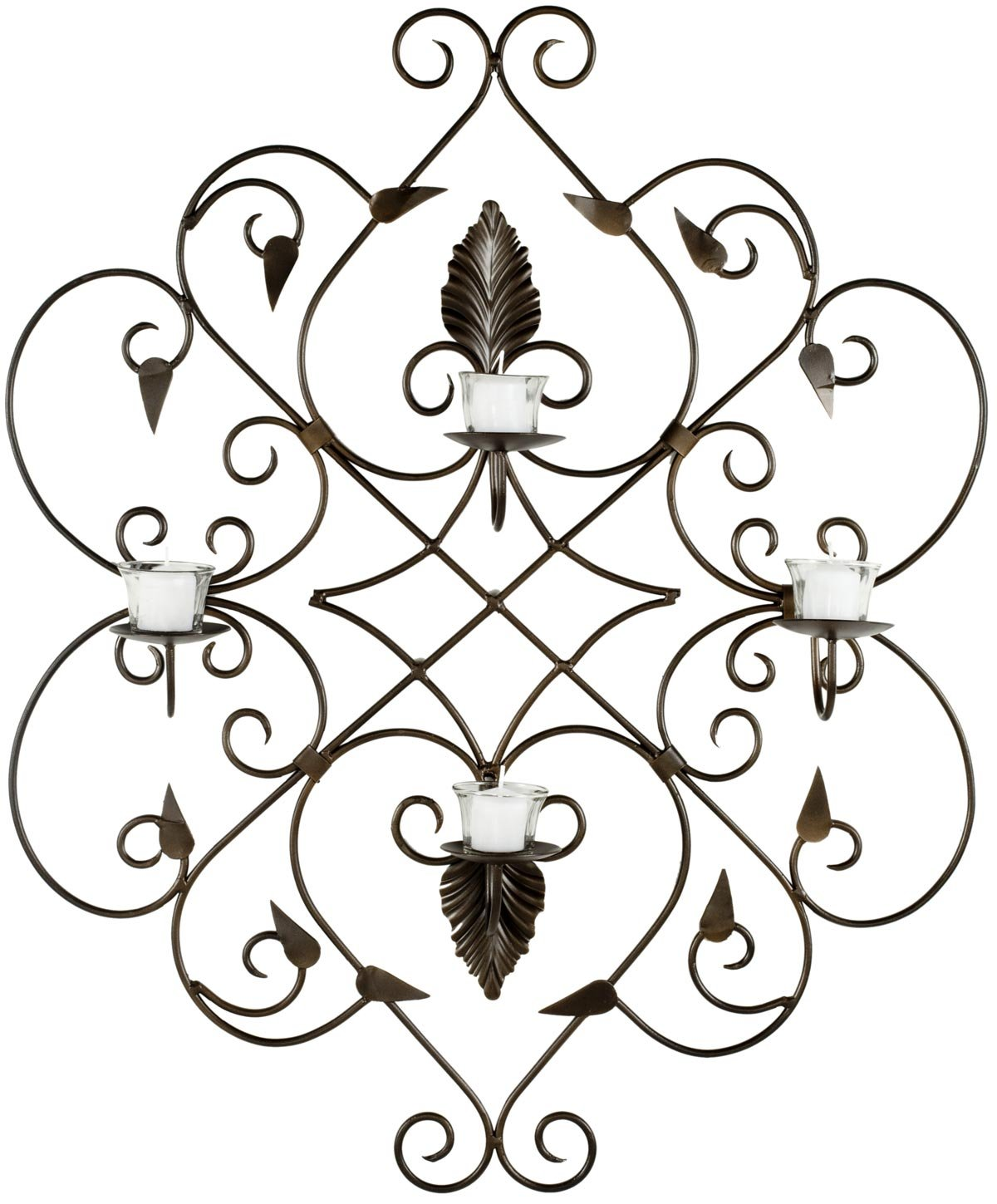 Safavieh Wall Art Collection Ivy Leaves Candle Holder Wall Sconce