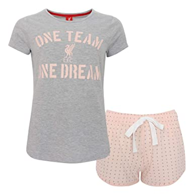 Amazon.com  Liverpool FC Grey Marl Pink Women Football Short Pijamas ... 65ced67835