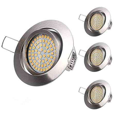 LED Einbaustrahler, 4Pack 3.5W Warmweiße 3000K Ultra Flach Deckenstrahler Einbauleuchte Deckeneinbaustrahler Einbaustrahler D