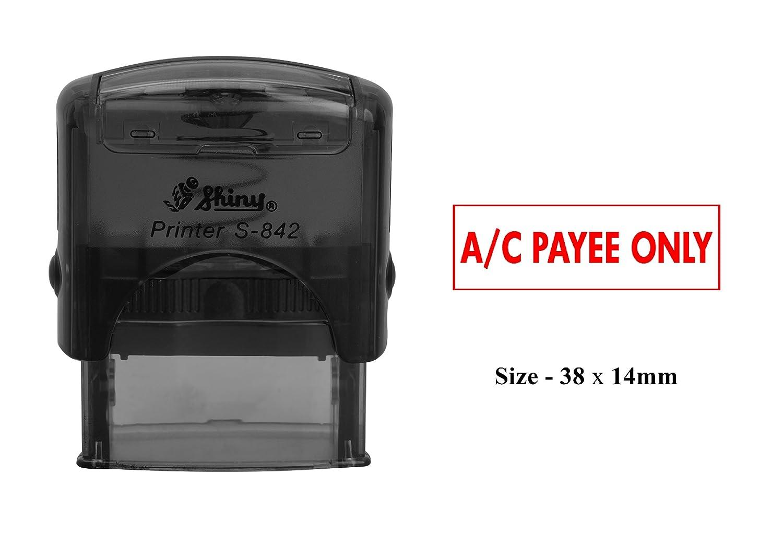 A//C PAYEE SOLO Timbro autoinchiostrante Personalizzato lucido S-842 Ufficio timbro stazionario