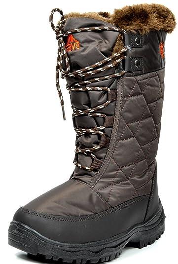 Amazon.com | ARCTIV8 Women's Winter Cold Weather Mid High Faux Fur ...