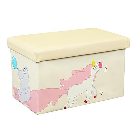 Otto U0026 Ben 20u0026quot; Toy Box   Folding Storage Ottoman Chest With Foam  Cushion Seat