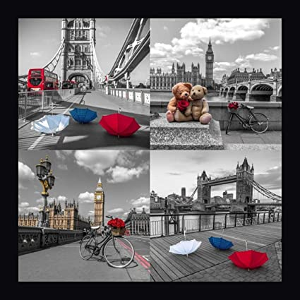 amazon com collage of famous places in london city uk by assaf