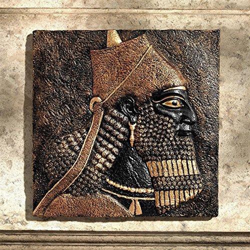 - Design Toscano King Ashurnasirpal II Nimrud Relief Wall Frieze, Black