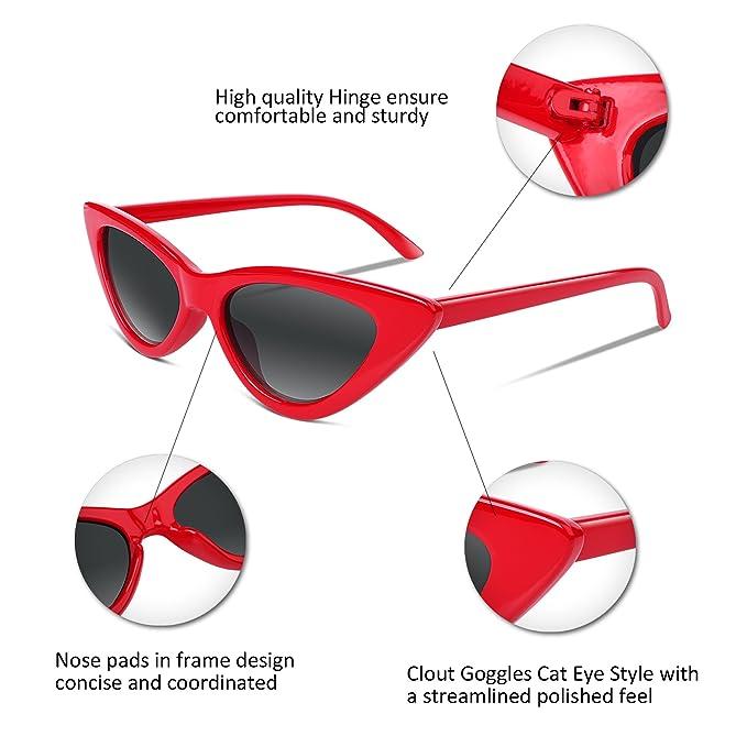FEISEDY Occhiali da sole occhiali da sole femminili modelli Clout occhiali da vista triangolo telaio B2248