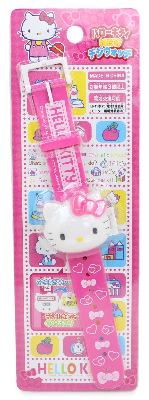 Hello Kitty relojes NUEVO reloj digital de color rosa para los ni?os: Amazon.es: Juguetes y juegos