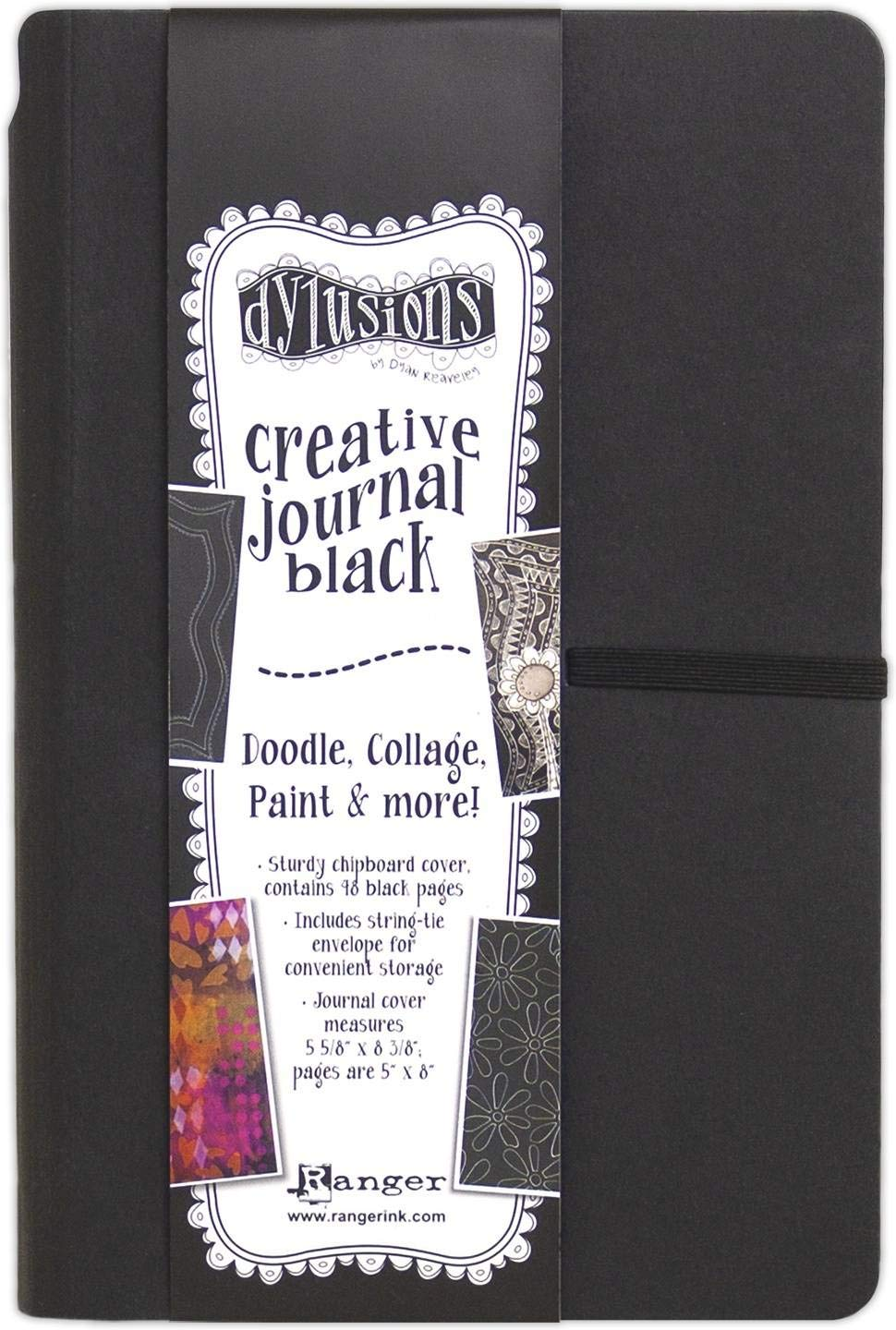 Ranger DYJ65630 Dyan Reaveley's Dylusions Black Journal-Small by Ranger