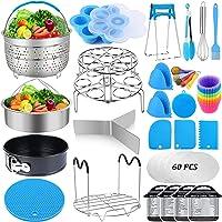 101 Pcs Pressure Cooker Accessories Set Compatible with Instant Pot 6 qt 8 Quart, 2 Steamer Basket, Springform Pan…
