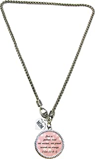product image for SAS Custom Love is Patient Christian Scripture Necklace 1 Cor 13:4-5 with Mom Charm