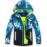 decathee Boys Rain Jackets Lightweight Waterproof Hooded Raincoats Windbreakers with Cotton Lined for Kids