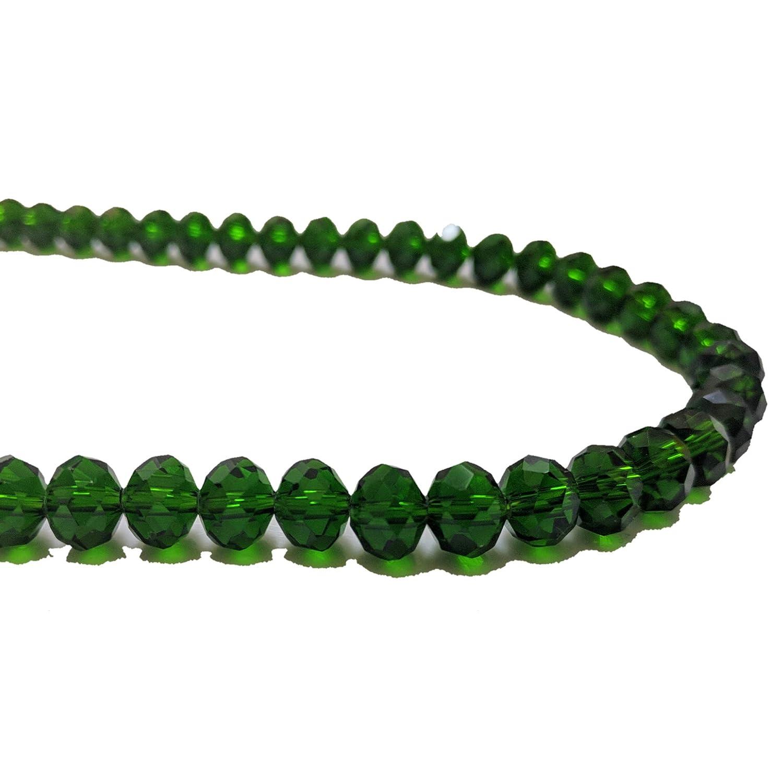 200 cuentas de cristal facetadas de 6 mm, 8 mm, negro, transparente, azul, verde, rosa, rojo, Emerald Green, 6 mm: Amazon.es: Hogar