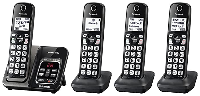 Panasonic KX-TGD564M Link2Cell Bluetooth Cordless Phone with Voice Assist and Answering Machine - 4 Handsets (Renewed)