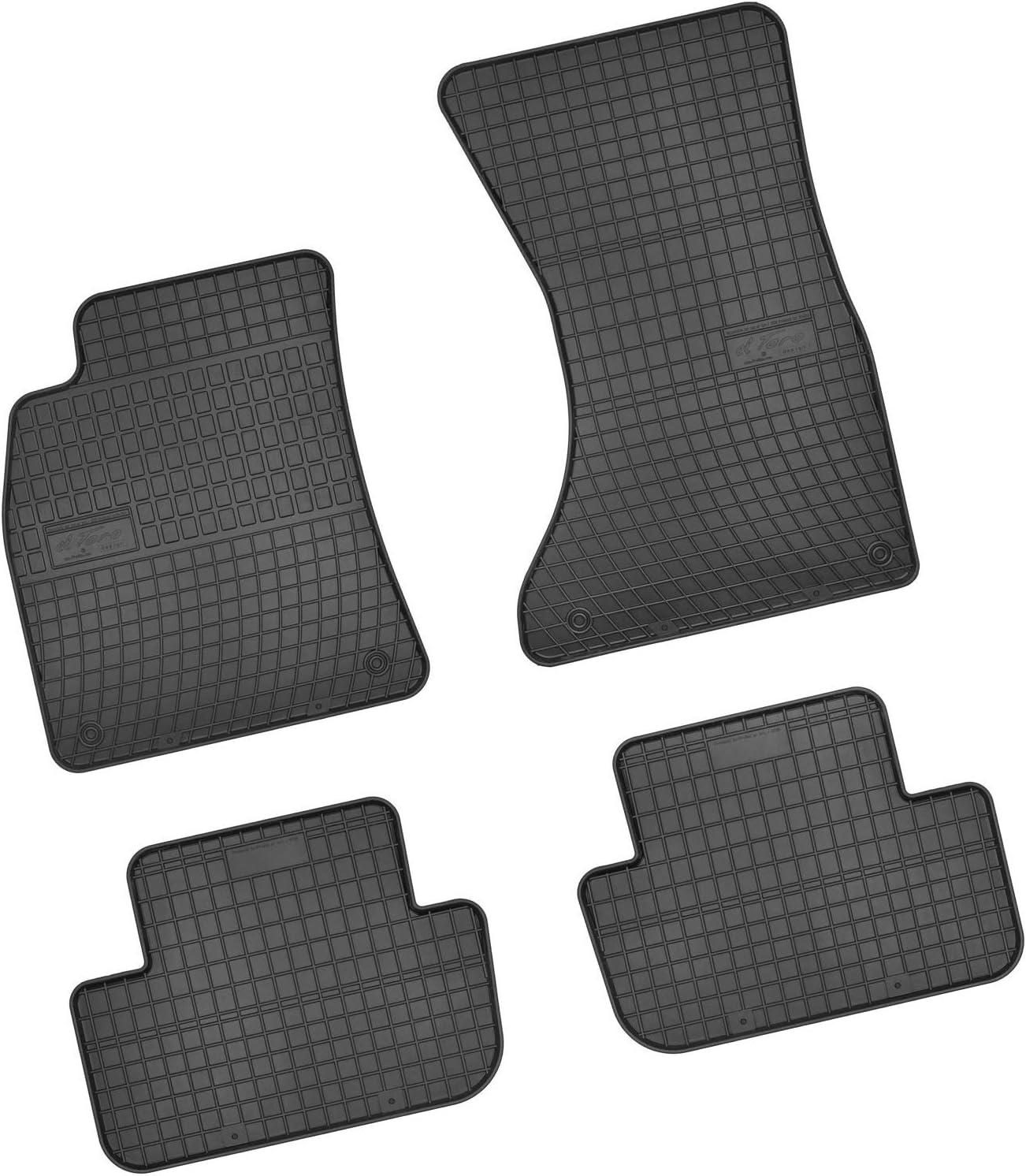 Bär Afc Au00151 Gummimatten Auto Fußmatten Schwarz Erhöhter Rand Set 4 Teilig Passgenau Für Modell Siehe Details Auto