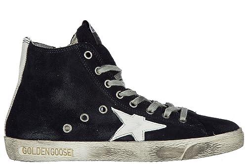 7c8cfc32d7 Golden Goose Scarpe Sneakers Alte Donna in camoscio Nuove Francy Blu ...
