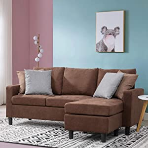 Walsunny Convertible Sectional Sofa Couch