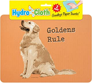product image for Fiddler's Elbow Hydro Cloth Dog Breed Dishcloths | Set of 2 | Eco-Friendly Dish Cloths | Paper Towel Replacements (Golden Retriever)